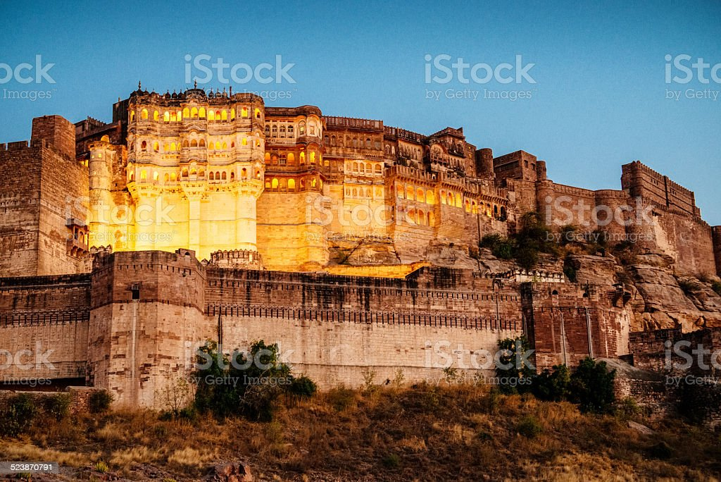Mehrangarh Fort in Jodhpur, India stock photo