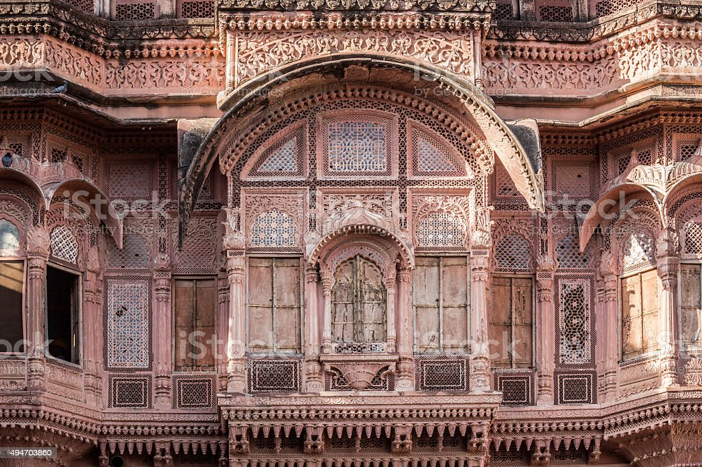 Mehrangarh Fort in Jodhpur, Rajasthan India stock photo