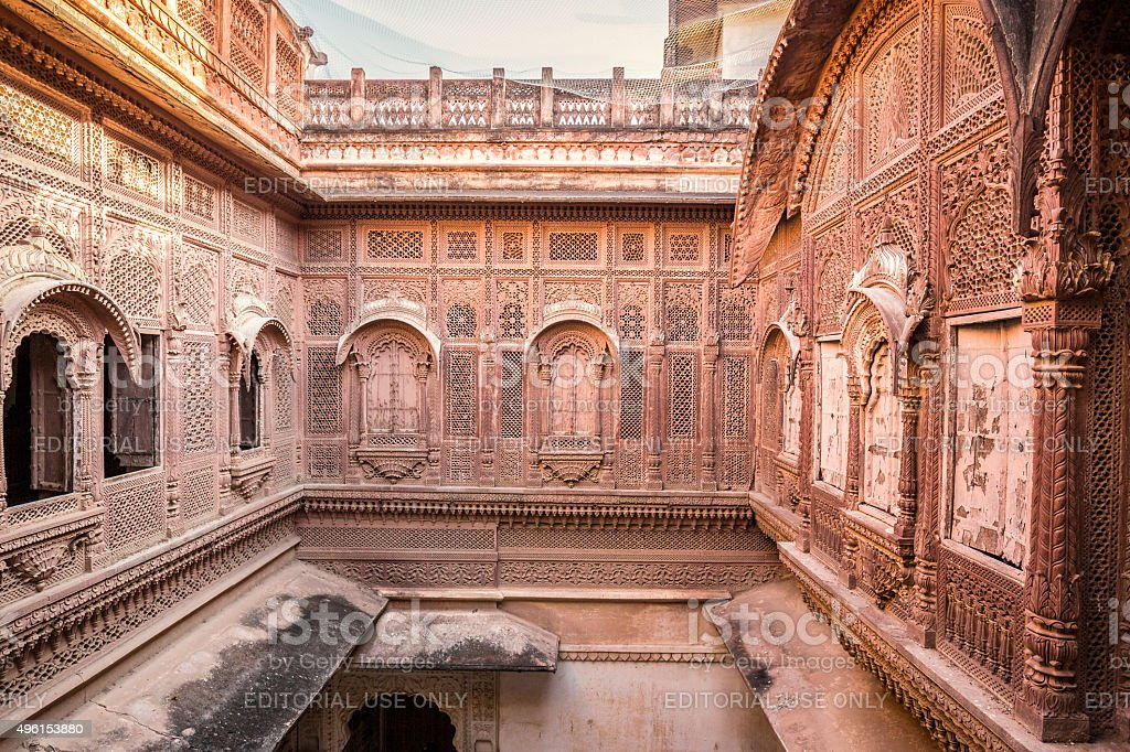 Mehrangarh Fort in Jodhpur Rajasthan India stock photo