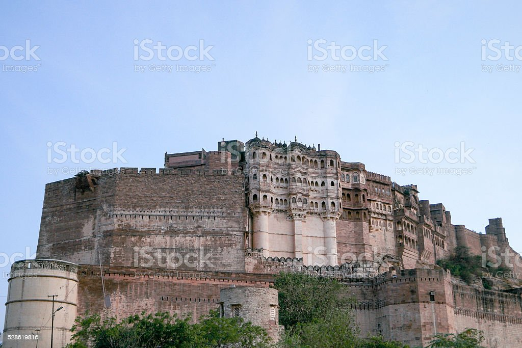 Mehrangarh Fort in Jodhpur, Rajasthan, India. stock photo