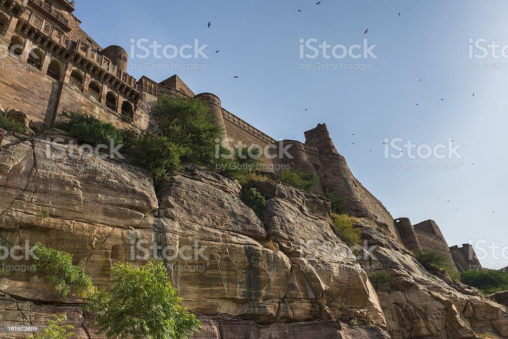 Mehrangarh Fort in Jodhpur, Rjasthan, India royalty-free stock photo