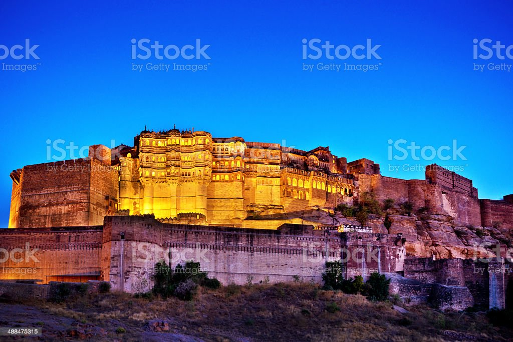 Mehrangarh Fort, Jodhpur, India stock photo