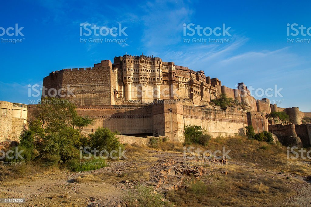Mehrangarh Fort, Jodhpur, India. stock photo