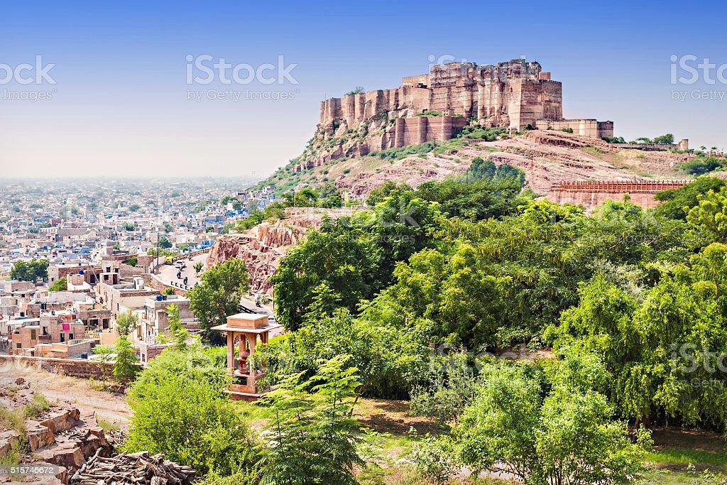 Mehrangarh Fort, Jodhpur stock photo