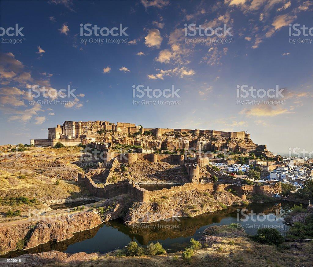 Mehrangarh Fort, Jodhpur, Rajasthan, India stock photo