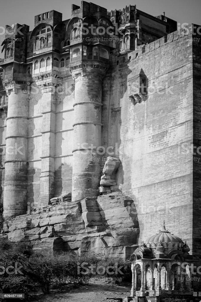 Mehrangarh Fort, Jodphur, Rajasthan, India stock photo