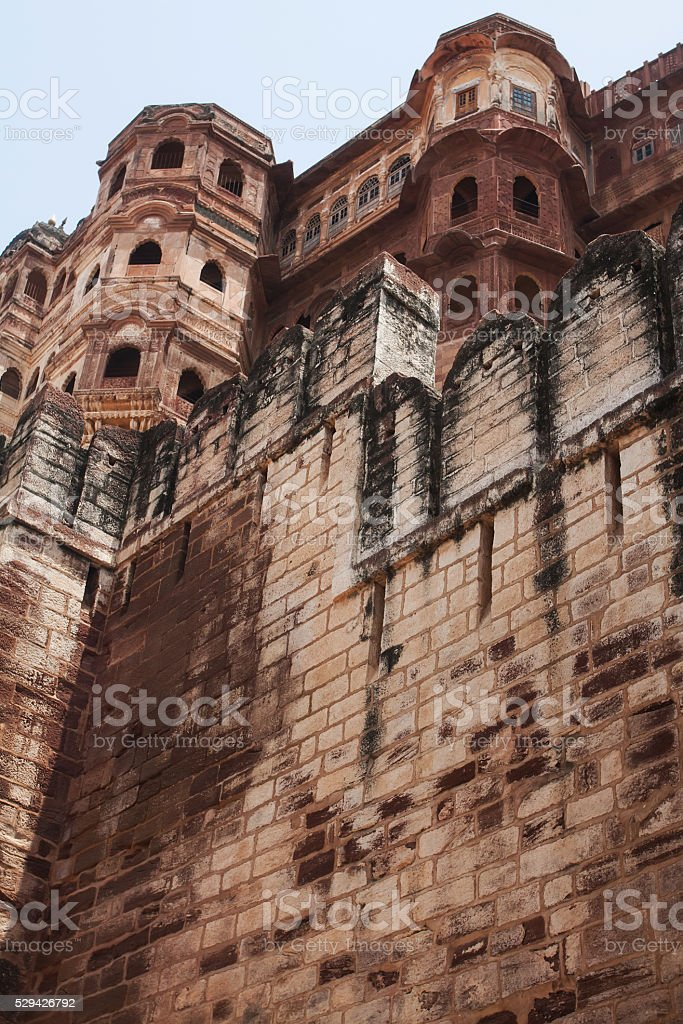 Mehrangarh Fort stock photo