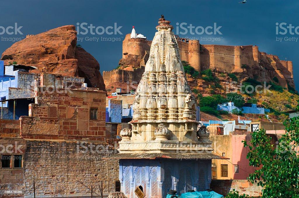 Mehrangarh fortress in Jodhpur, Rajasthan, North India stock photo