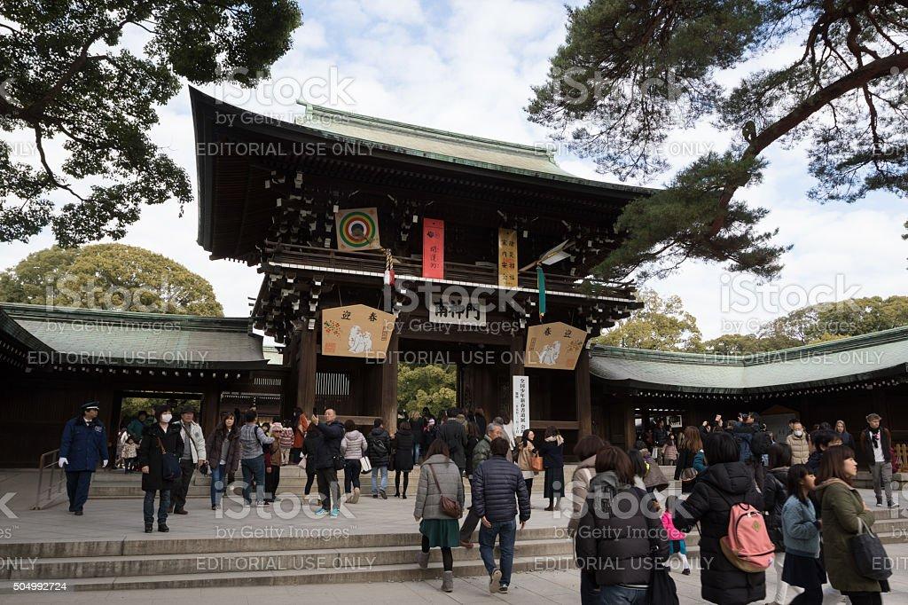 Meiji Shrine in Tokyo, Japan stock photo