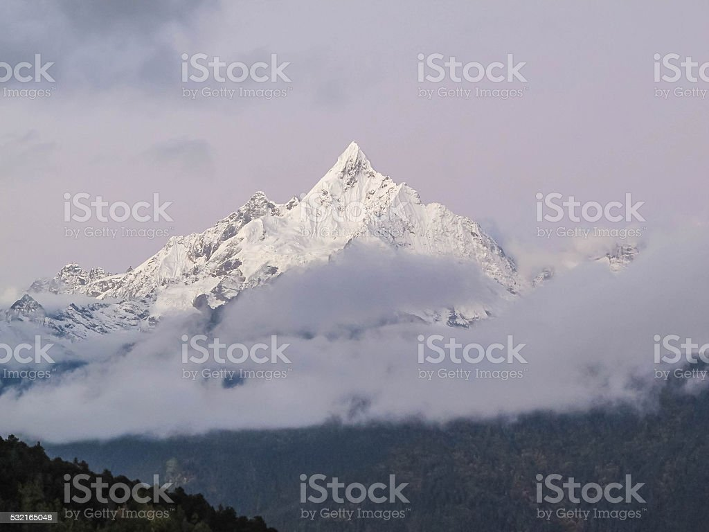 Meili snow mountain, Niancimu peak, Deqen, Yunnan, China stock photo