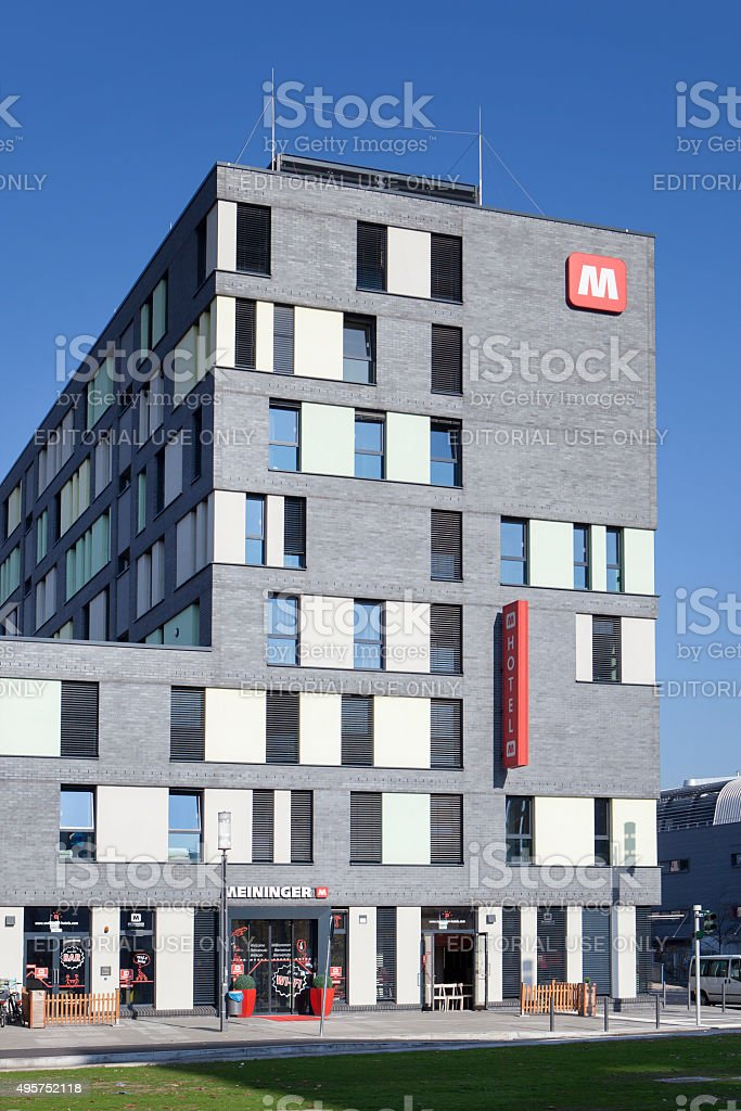 Meininger Hotel Frankfurt Europaviertel stock photo