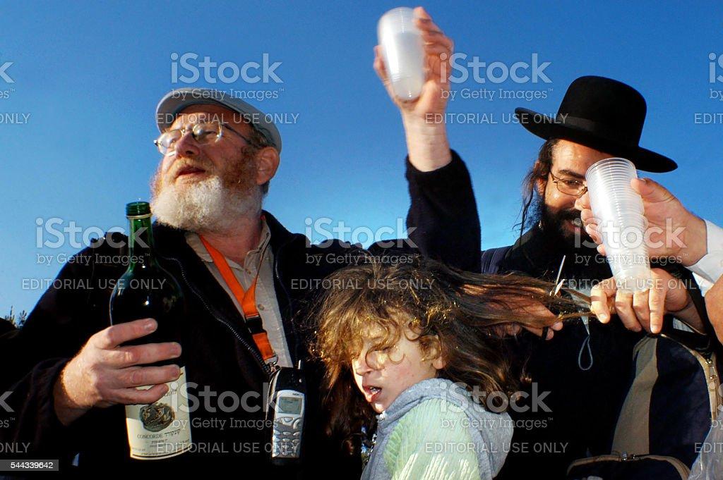 Meiron Israel Jewish Holiday Lag Bomer stock photo