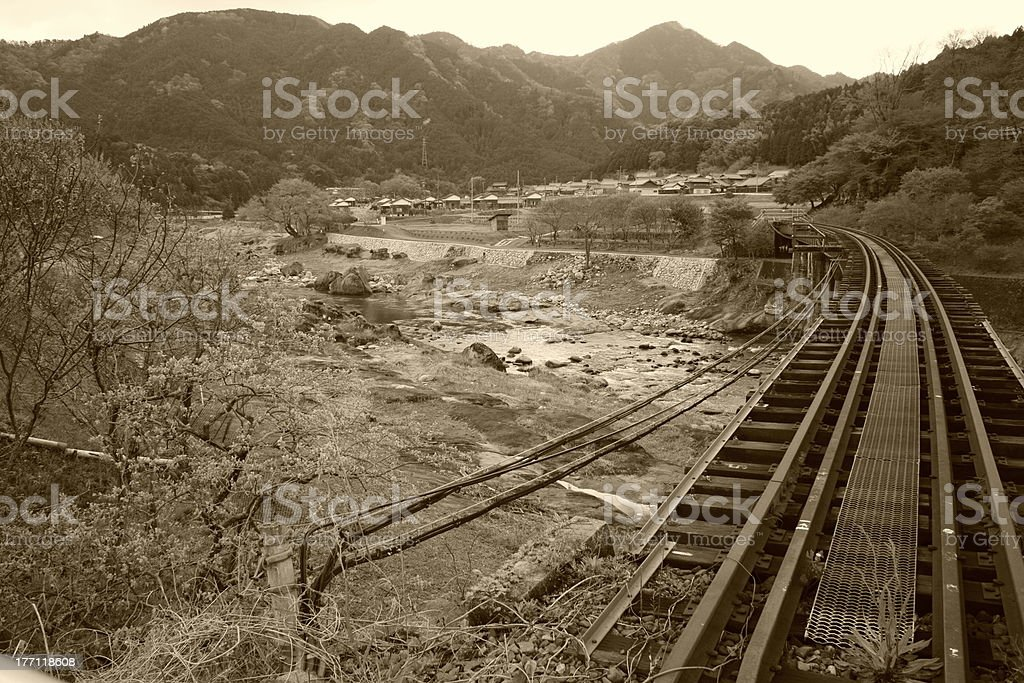 Meishosen Rail Way and Ieki Line stock photo