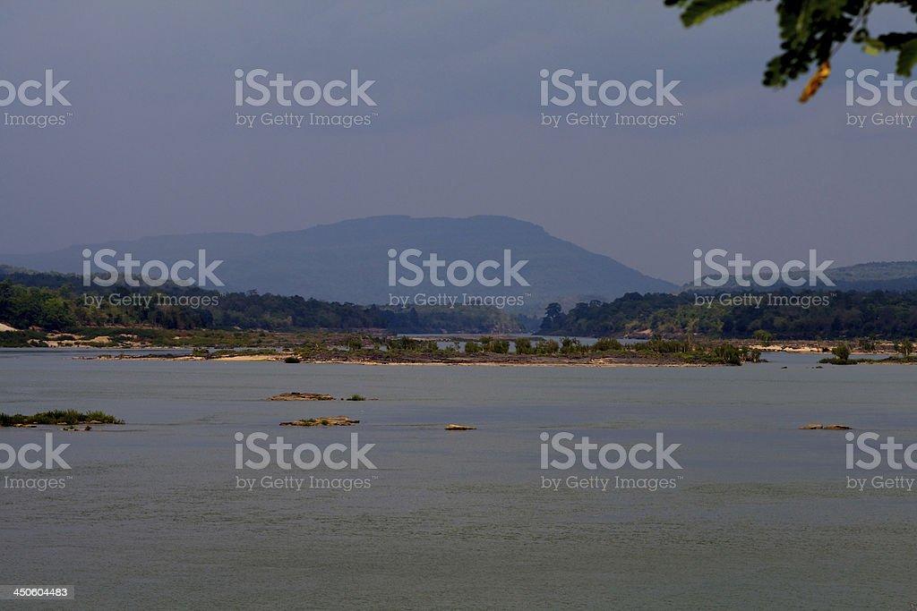 Mekhong River at Khongchiam, Ubon stock photo