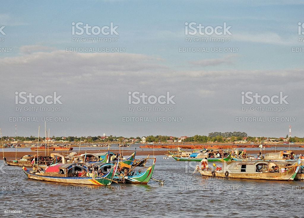 Lungo il Mekong foto stock royalty-free