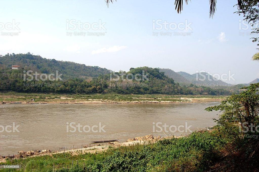 Mekong River in Luang Prabang, Laos stock photo
