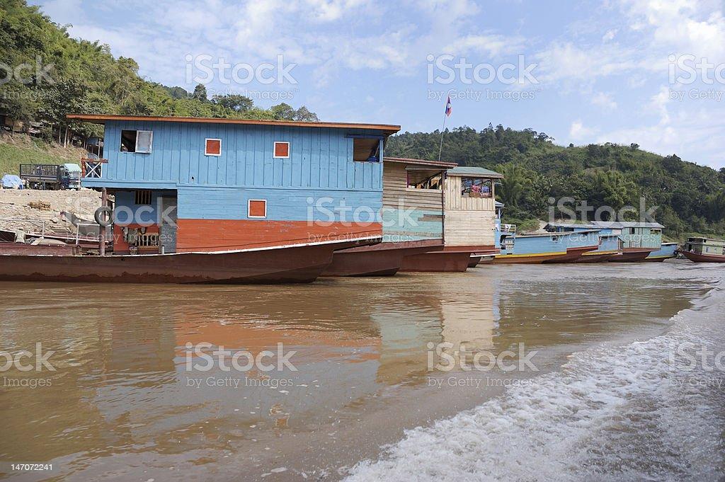 Mekong river. Laos stock photo