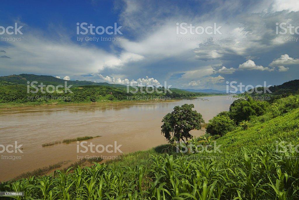 Mekong River stock photo