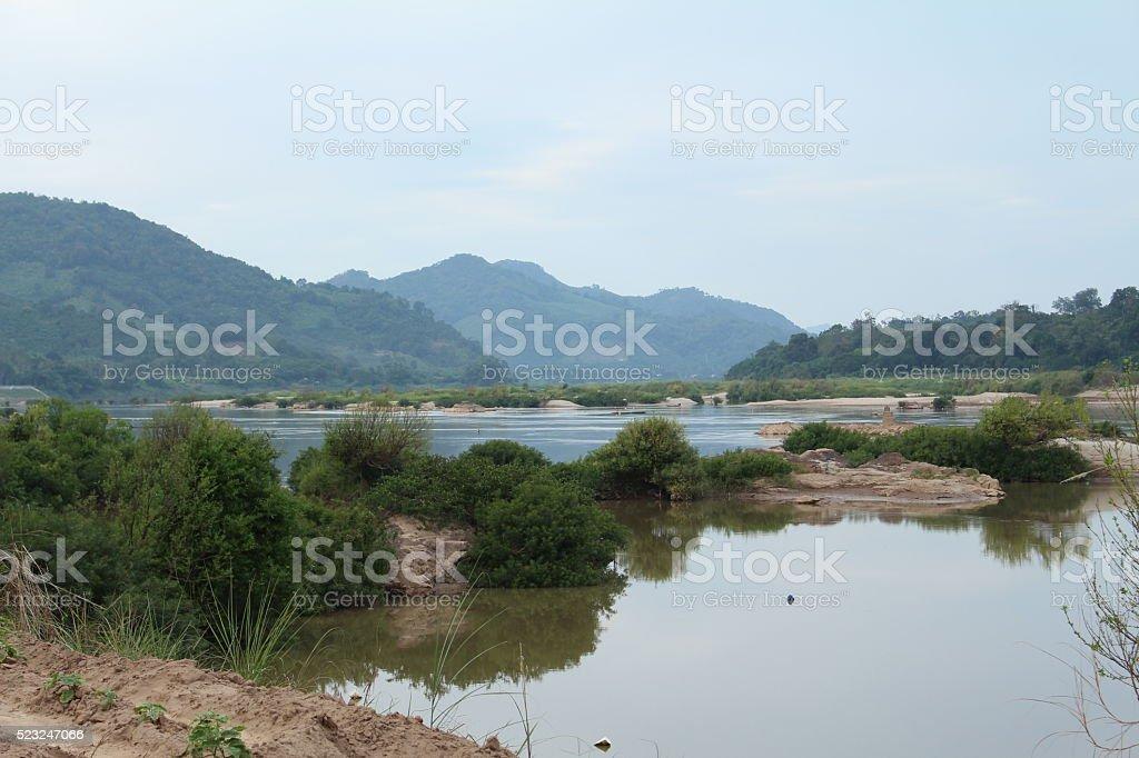 mekong river thailand stock photo