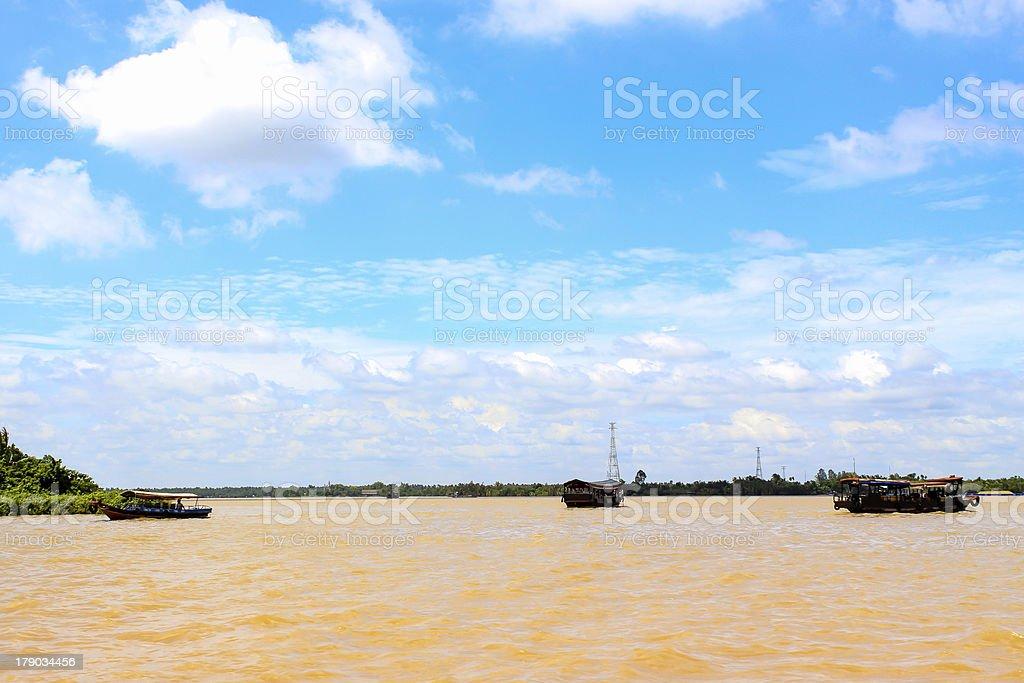 Mekong river, Vietnam royalty-free stock photo