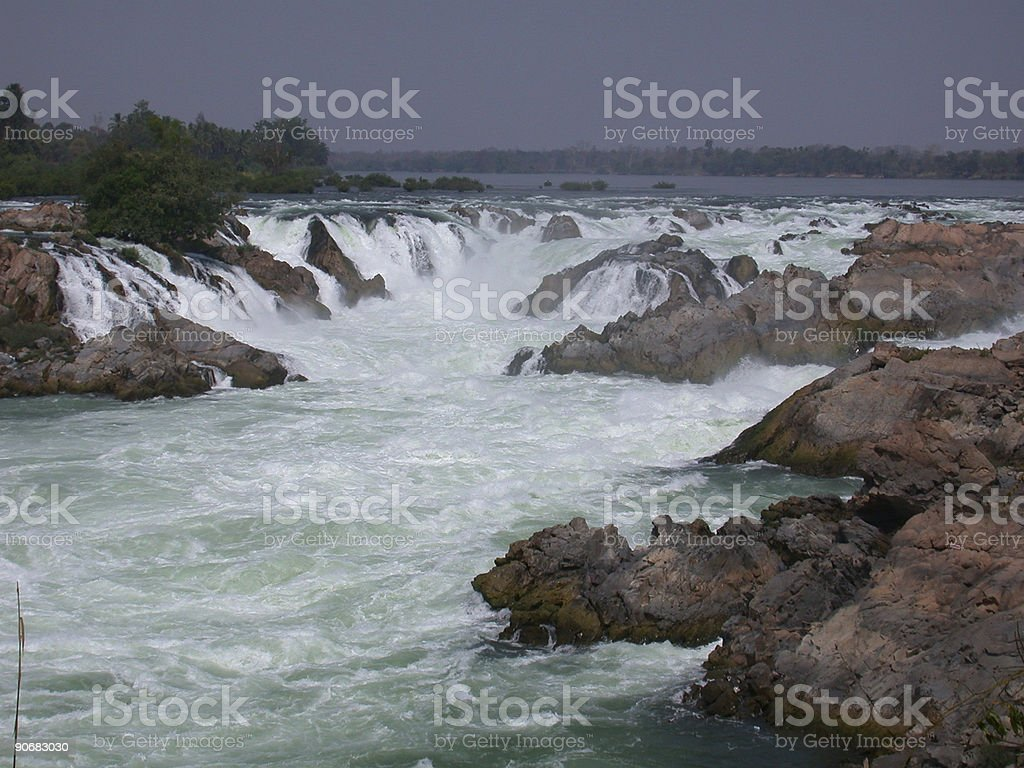 Mekong waterfall royalty-free stock photo