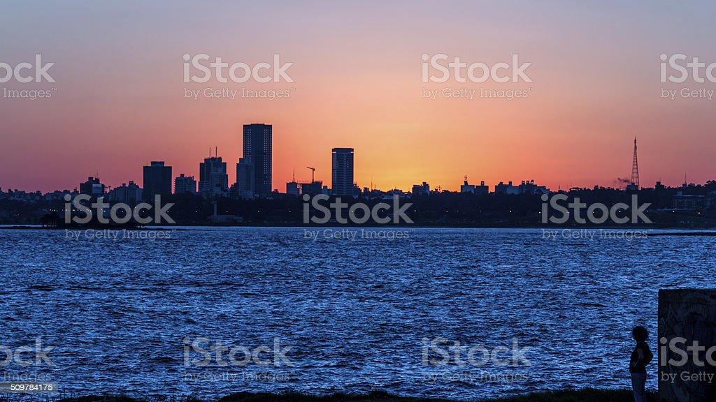 Melancolic sunset stock photo
