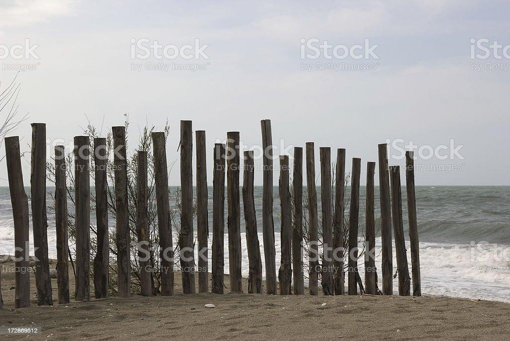 melancholic winter beach stock photo
