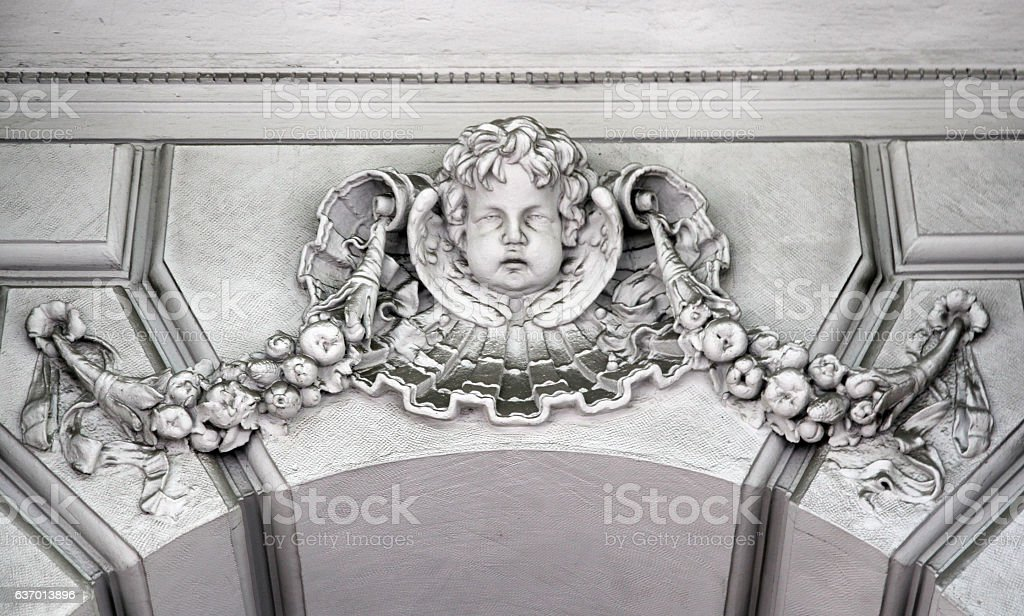 Melancholy Cherub stock photo