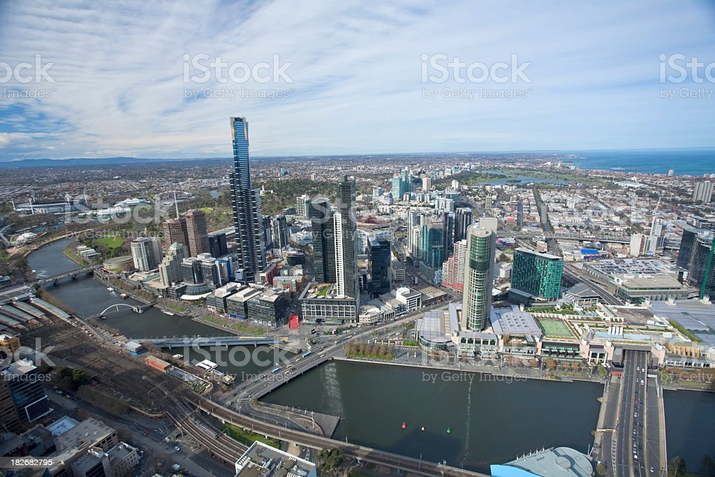 Melbourne Aerial stock photo