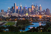 Melbourne and the Maribyrnong River
