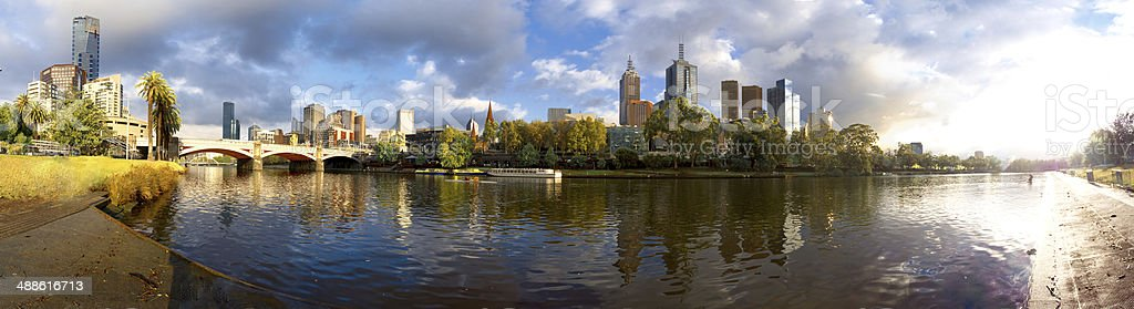 melbourne and yarra stock photo