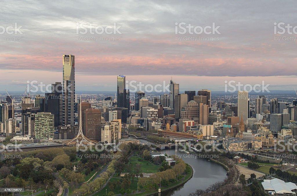 Melbourne at dawn stock photo