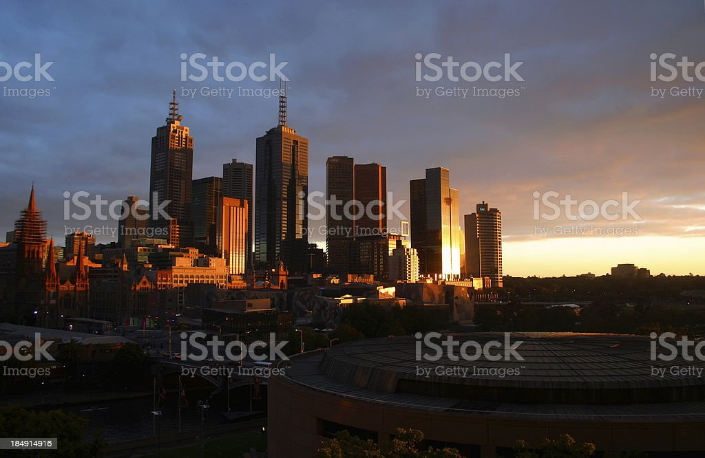 Melbourne at Sunrise royalty-free stock photo