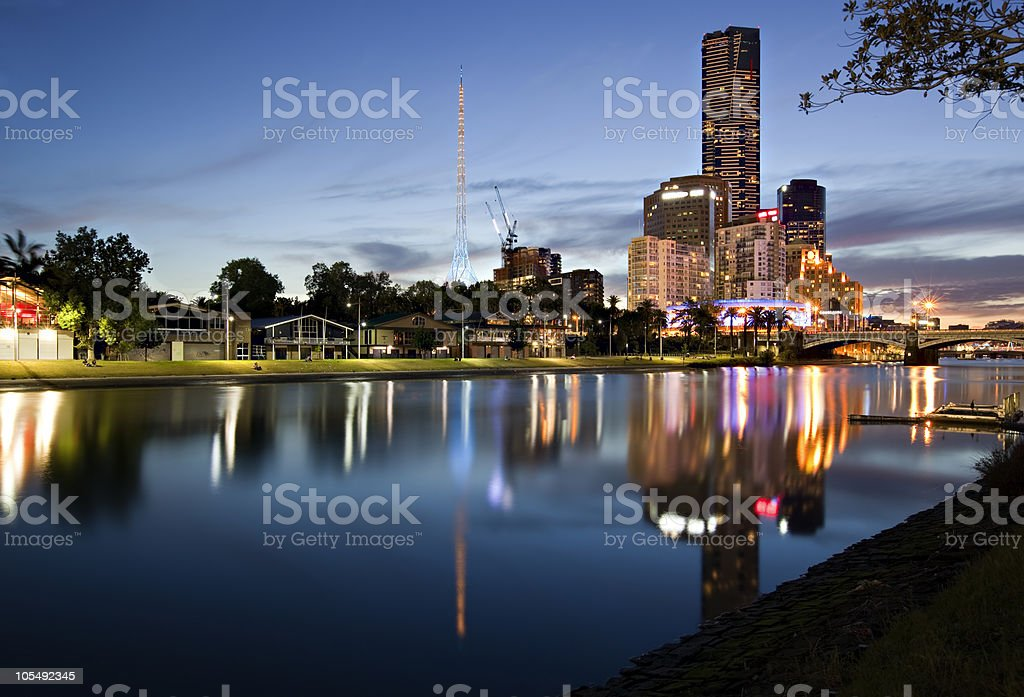 Melbourne at Twilight royalty-free stock photo
