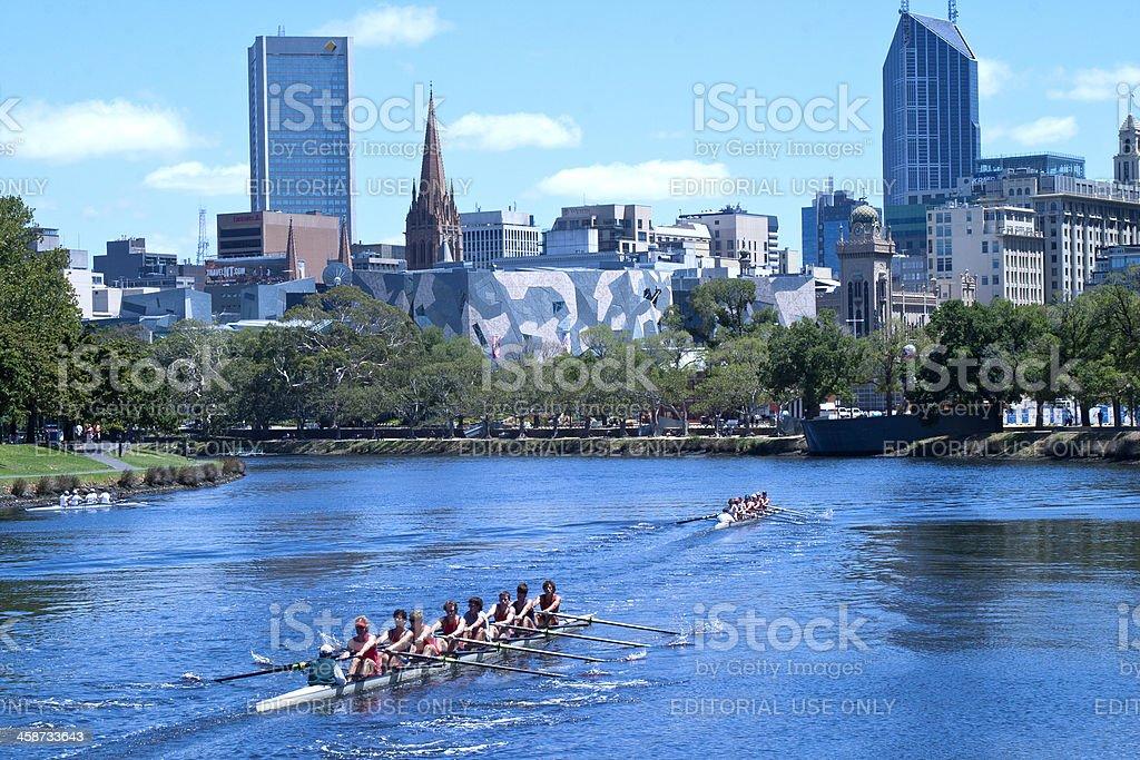 Melbourne, Australia Rowers royalty-free stock photo
