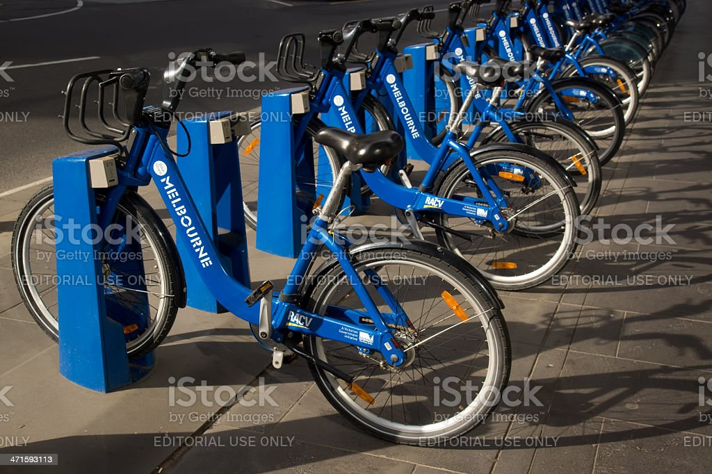 Melbourne Bike Share royalty-free stock photo