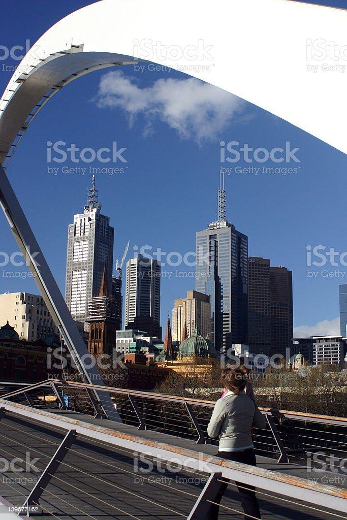 Melbourne Bridge royalty-free stock photo