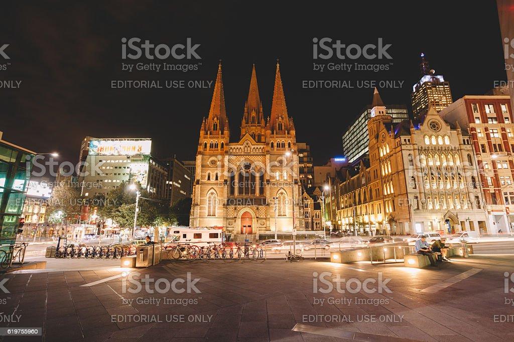 Melbourne cathedral,Australia stock photo