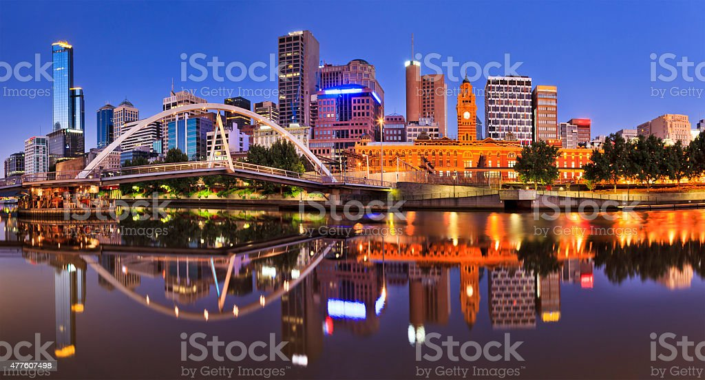 Melbourne CBD River Rise stock photo