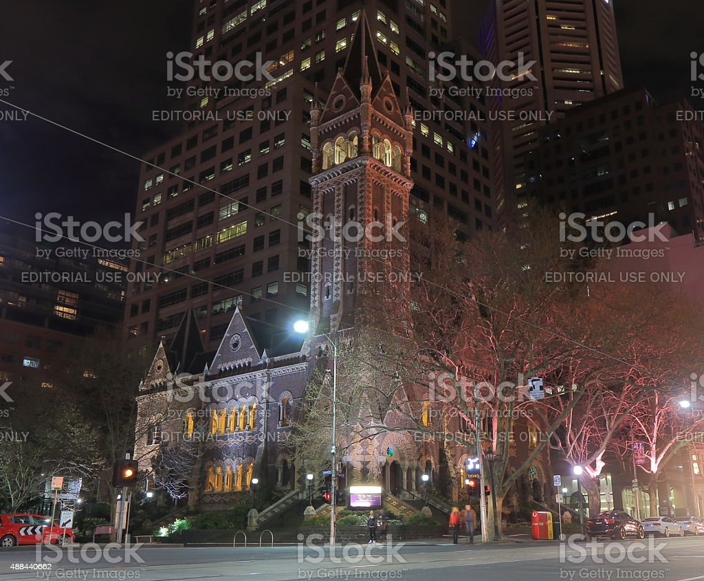 Melbourne church Australia stock photo