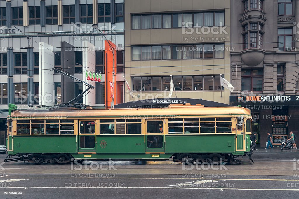 Melbourne City Circle Tram stock photo
