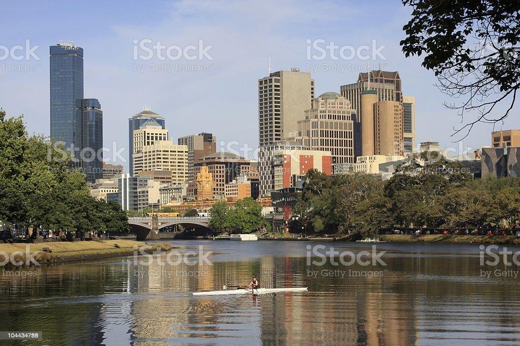 Melbourne City royalty-free stock photo