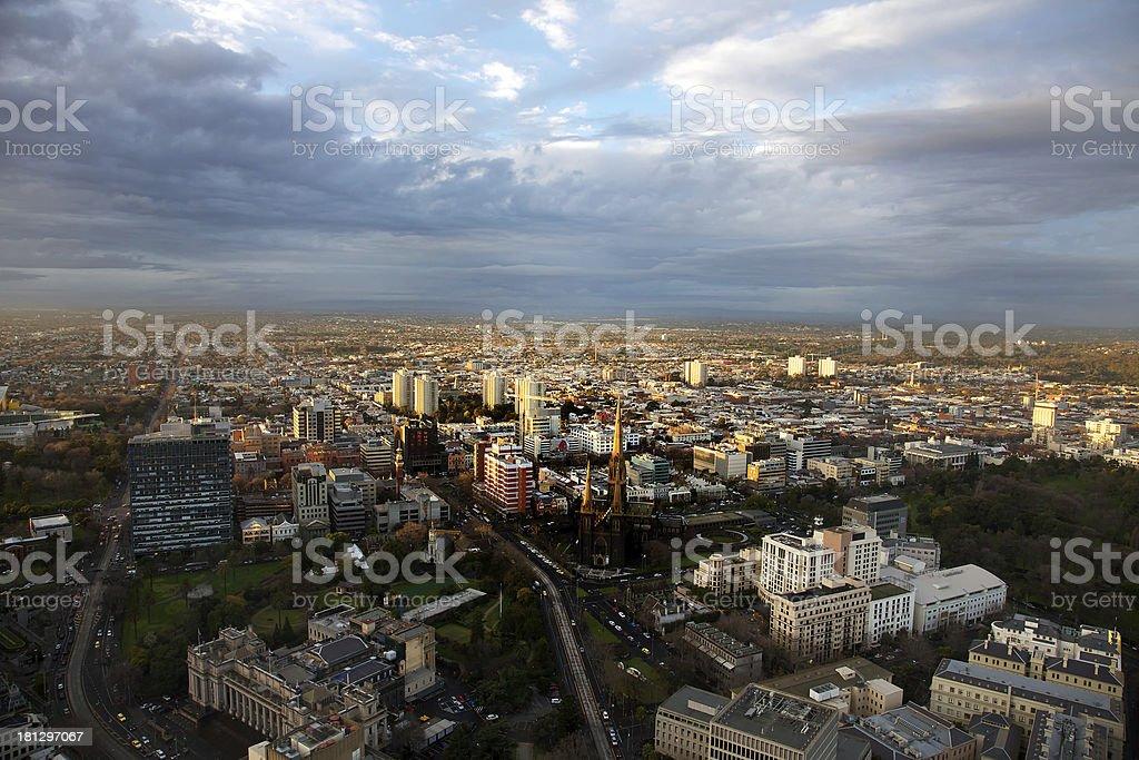 Melbourne City Skyline royalty-free stock photo