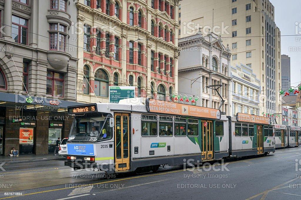 Melbourne City Tram stock photo