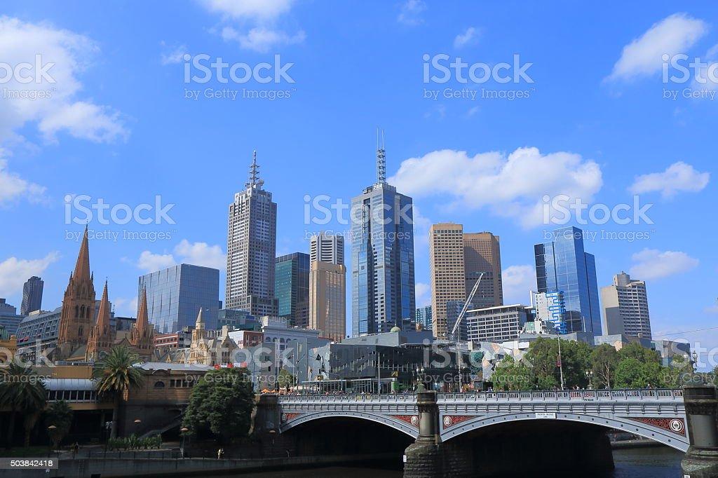 Melbourne cityscape Australia stock photo