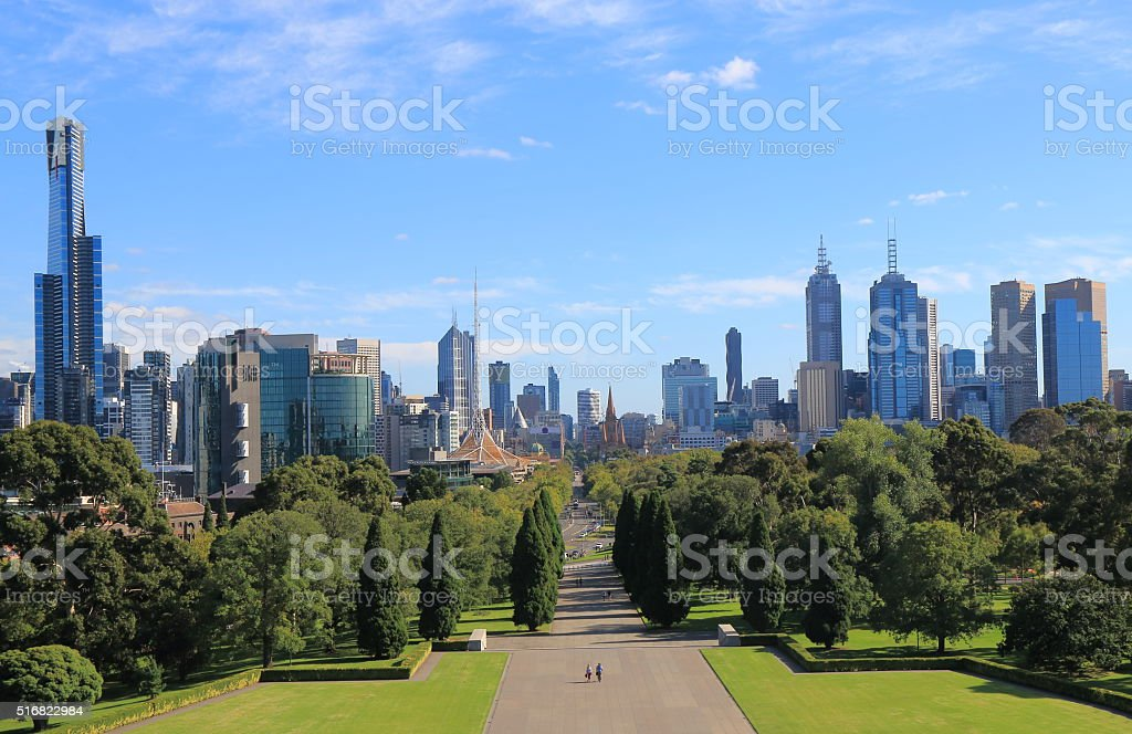 Melbourne Cityscape Australia stock photo