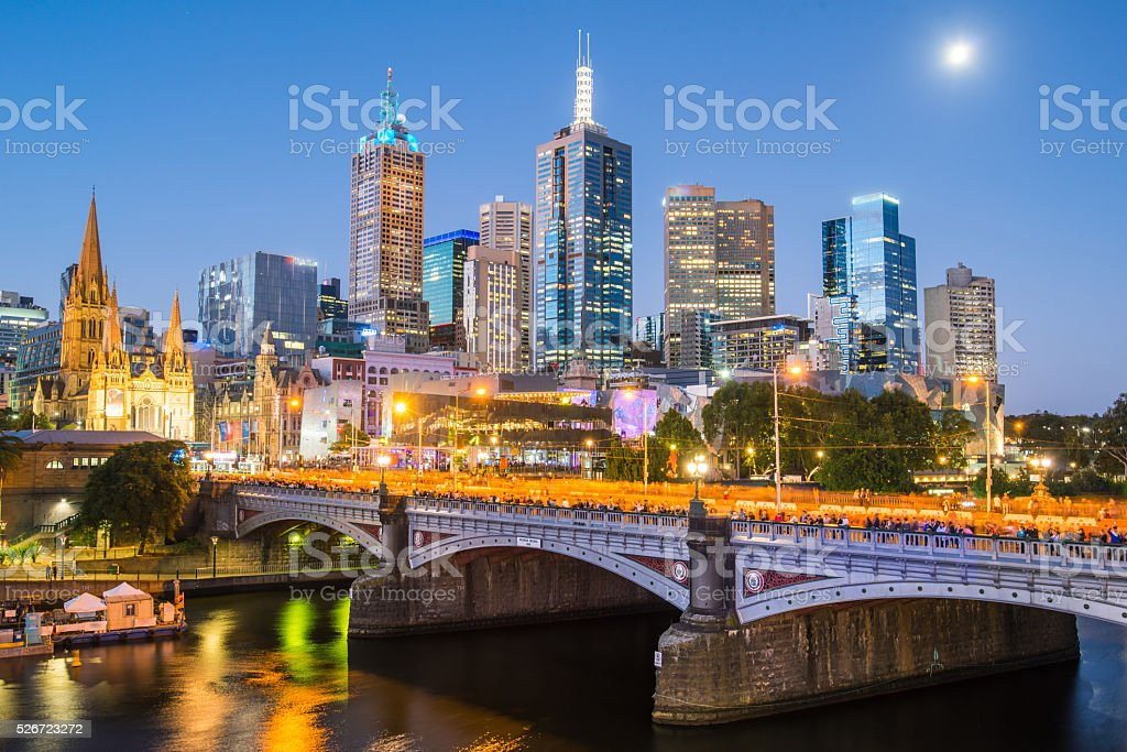 Melbourne cityscape, Australia. stock photo