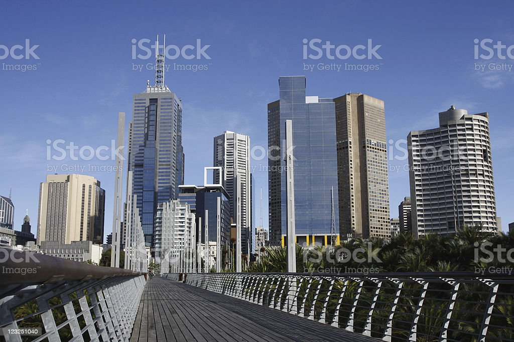 Melbourne cityscape royalty-free stock photo