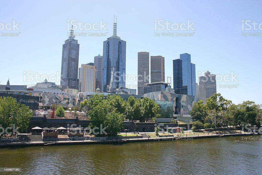 Melbourne cityscape stock photo