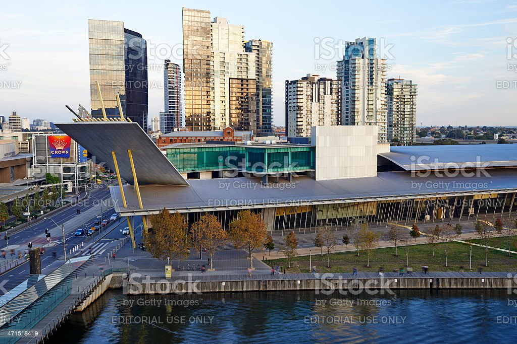 Melbourne Convention and Exhibition Centre royalty-free stock photo
